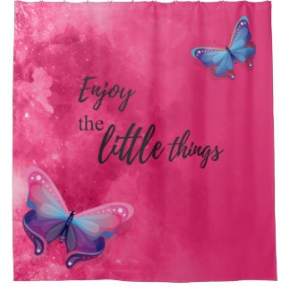 Pink Shower Curtain Inspiration Quote
