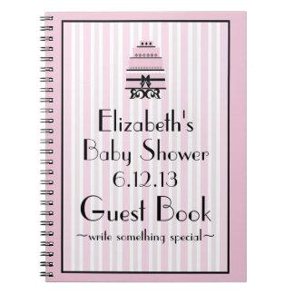 Pink Shower Guestbook Notebooks