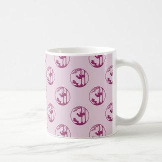 Pink Silhouette of Child Swinging with Dog Coffee Mug