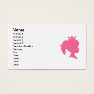 Pink Silhouette Princess T-shirts and Gifts Business Card
