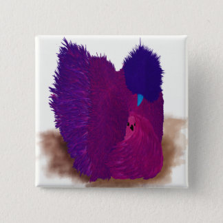 Pink Silkie 2 Inch Square Button