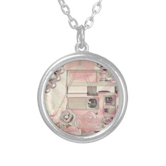 PINK SILVER PLATED NECKLACE