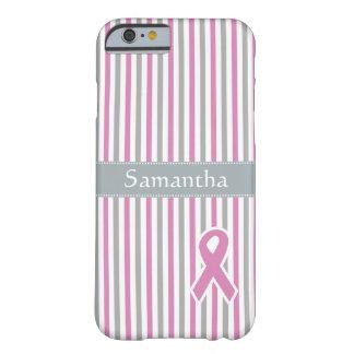 Pink & Silver Stripes custom monogram cases