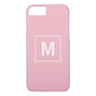 Pink Simple Monogram Mobile iPhone 8/7 Case