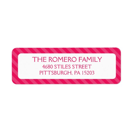Pink Simple Stripes Custom Personalized