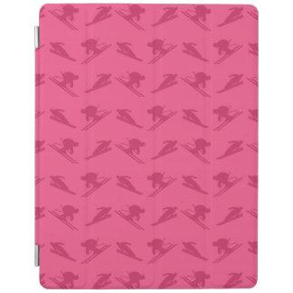 Pink ski pattern iPad cover