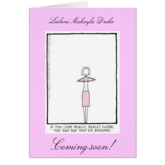 Pink Skinny Mommy Greeting Card
