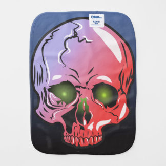 Pink skull burp cloth
