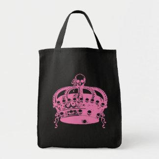 Pink Skull Crown Tote Bag