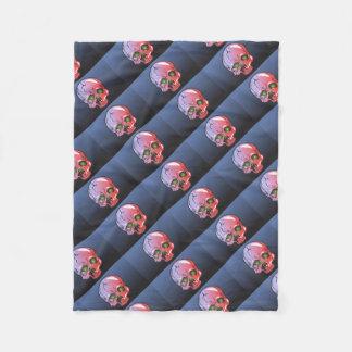 Pink skull fleece blanket