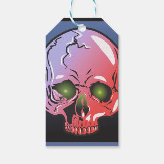 Pink skull gift tags