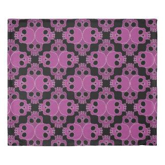 Pink Skull Jigsaw Duvet Cover