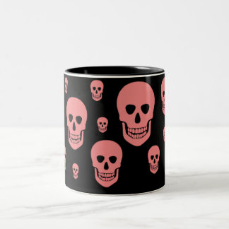 Pink skull mug