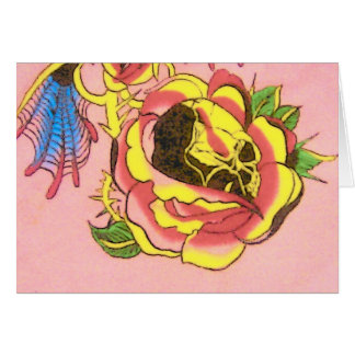 Pink Skull Note Card