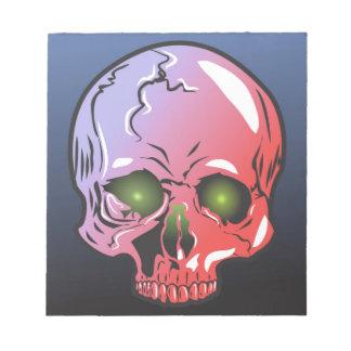 Pink skull notepad