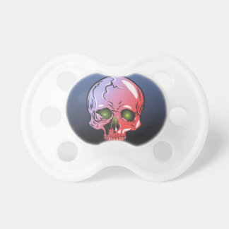 Pink skull pacifier