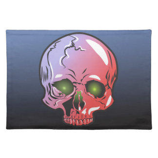 Pink skull placemat