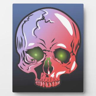 Pink skull plaque