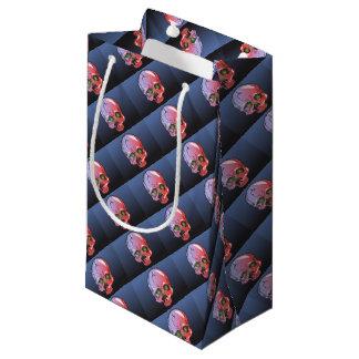 Pink skull small gift bag