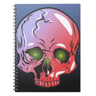 Pink skull spiral notebook
