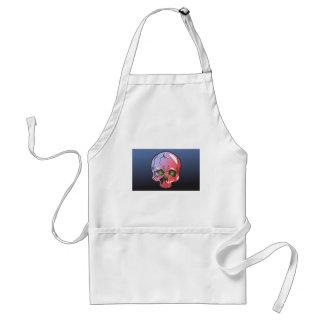 Pink skull standard apron