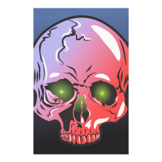 Pink skull stationery