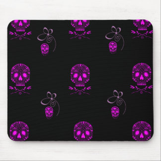 Pink Skulls Mouse Pad