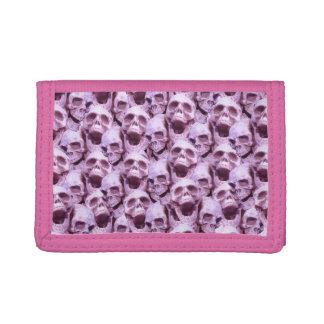 Pink Skulls Trifold Wallets