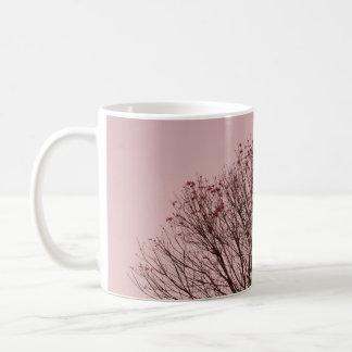 Pink Sky and Tree Branches Mugs