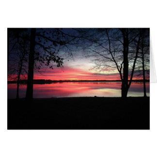 Pink Sky at Morning Greeting Card