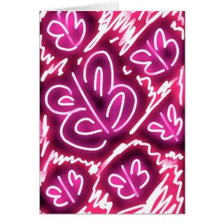 """Pink Sky At Night"" whimsical birthday card"