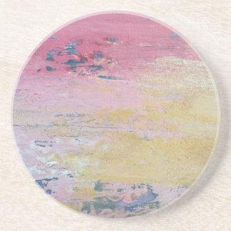 Pink Sky Delight Beverage Coaster