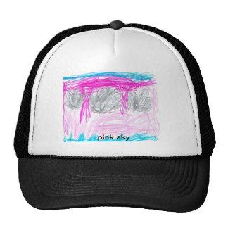 pink sky hat