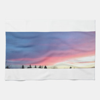 Pink sky kitchen towel