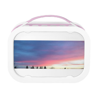 pink sky lunch box