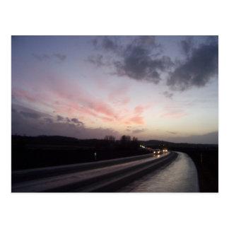Pink Sky Over Helsingborg Postcard