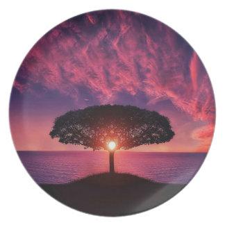 Pink sky plate