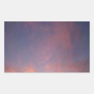Pink sky rectangular stickers
