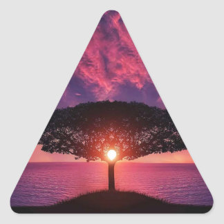Pink sky triangle sticker