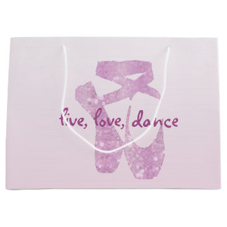 pink slippers large gift bag