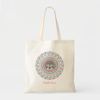 Pink Sloth Mandala Costa Rica Tote Bag