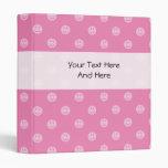 Pink smiley face binder for teen school girls