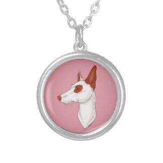 Pink Smooth Eyepatch Ibizan Hound Necklace