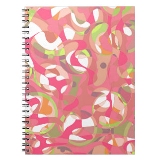 Pink smoothie spiral note book