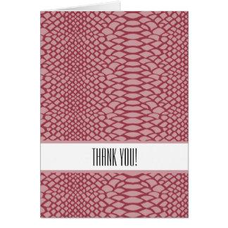 Pink Snake Print Print Thank You Cards