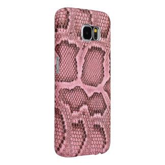 Pink Snake Skin Samsung Galaxy S6 Cases
