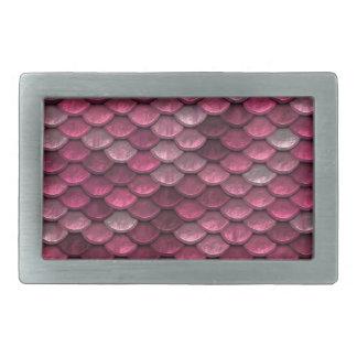 Pink Snakeskin Background Belt Buckles