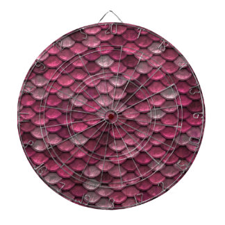 Pink Snakeskin Background Dartboard