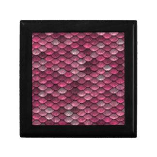 Pink Snakeskin Background Gift Box