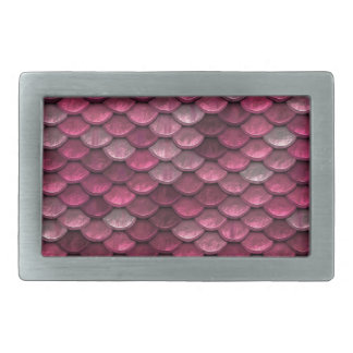 Pink Snakeskin Background Rectangular Belt Buckle
